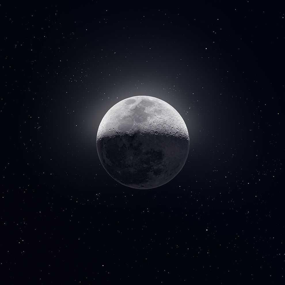 这张美丽的月球照片由5万张图片组成-有意思吧