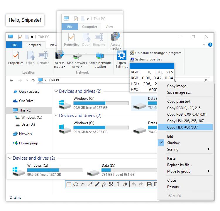 Snipaste v2.2.4 x86/x64 Beta官方版 截图 + 贴图-有意思吧
