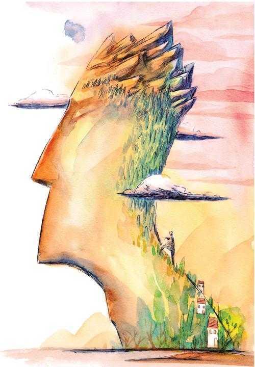 """人生要攀登""""两座山"""""""